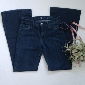 7 For All Mankind Ginger Flare Jeans 27 Long